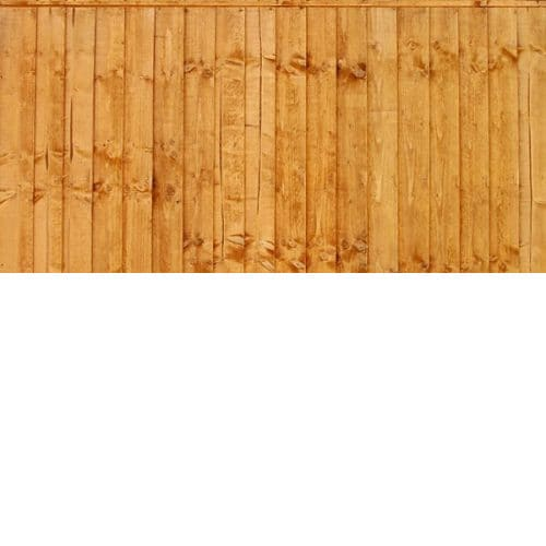 6′ wide Gold Framed Closeboard Panels – Treated