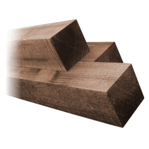 """3"""" Brown Timber Fence Posts"""