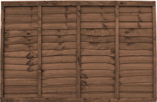 6′ wide Brown Waneyedge Fence Panels – Pressure Treated