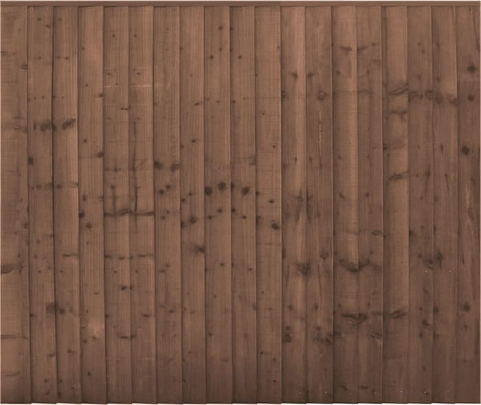 6′ wide Professional Closeboard Panels – Pressure Treated Brown