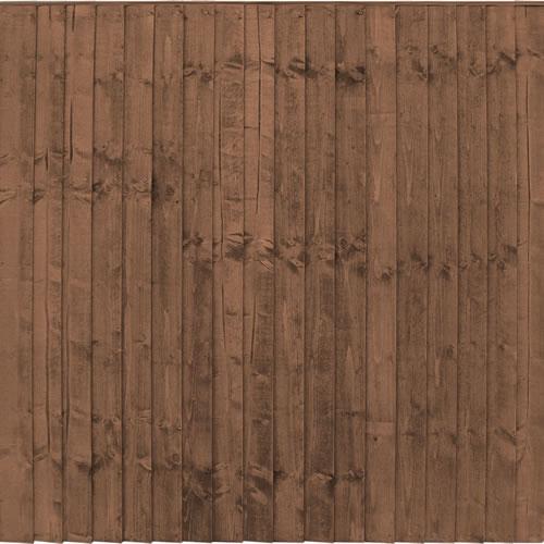 6′ wide Brown Framed Closeboard Panels – Pressure Treated