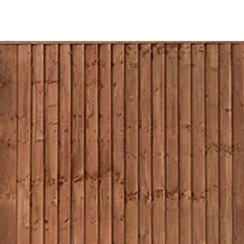 6′ wide Contractor Closeboard Panels – Pressure Treated Brown