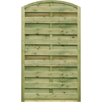 0.90m wide x 1.80m high Arched Gate – Pressure Treated Green