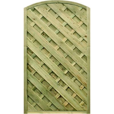 0.90m wide x 1.80m high V Arched Gate – Pressure Treated Green