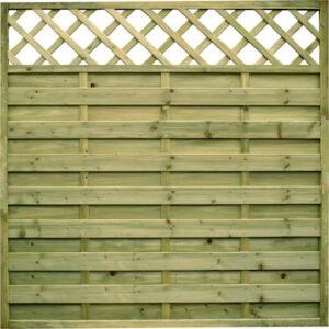 Horizontal Panel with Lattice Top