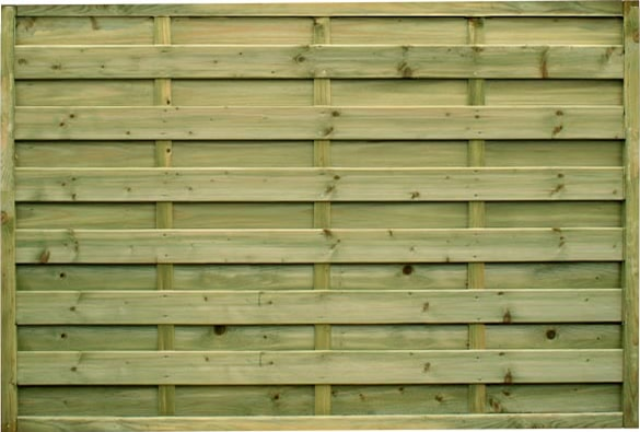 1.8m wide Horizontal Panel – Pressure Treated Green