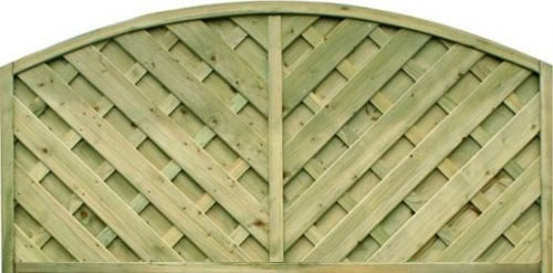 1.8m wide V Arched Panel – Pressure Treated Green