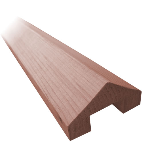 3m Rebated Capping Rail – Pressure Treated Brown