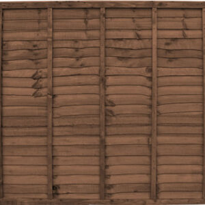 Brown Waneyedge Fence Panels
