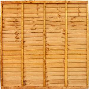 Gold Waneyedge Fence Panels