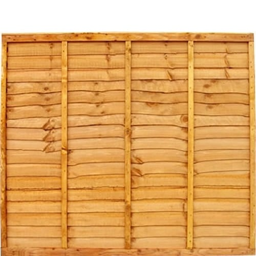 6′ wide Gold Waneyedge Fence Panels – Treated