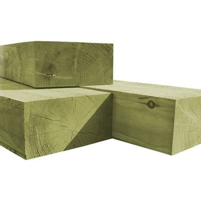 2.4m x 250mm x 125mm New Railway Sleepers – Pressure Treated Green