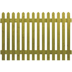 Green Pointed Top Picket Panels
