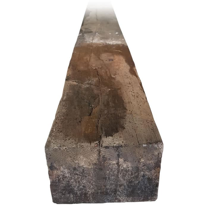 2.6m x 250mm x 150mm Grade A Reclaimed Sleeper – Creosoted