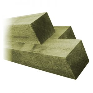 """4"""" x 4"""" Green Timber Fence Posts"""