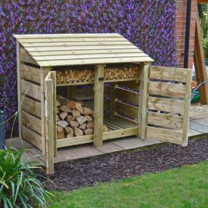 4ft Green Cottesmore Log Store
