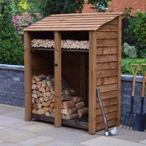 6ft Brown Cottesmore Log Store