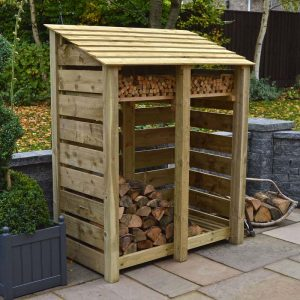 6ft Green Cottesmore Log Store