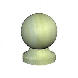 Green Ball & Collar Finial